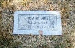 BABBIT, BABY - Pottawattamie County, Iowa   BABY BABBIT