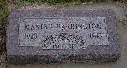 BARRINGTON, MAXINE - Pottawattamie County, Iowa | MAXINE BARRINGTON