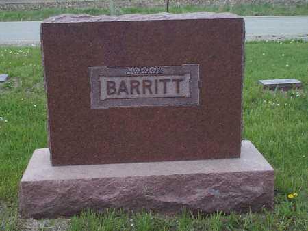 BARRITT, FAMILY STONE - Pottawattamie County, Iowa   FAMILY STONE BARRITT