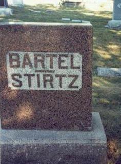 BARTEL - STIRTZ, MARKER - Pottawattamie County, Iowa | MARKER BARTEL - STIRTZ