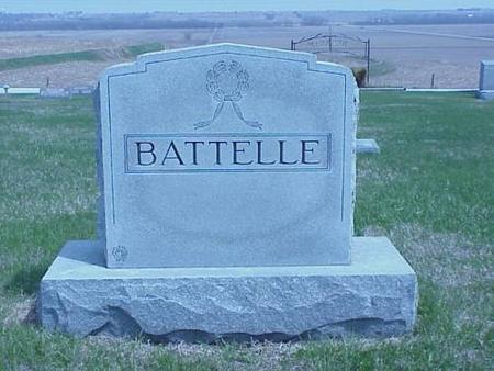 BATTELLE, HEADSTONE - Pottawattamie County, Iowa | HEADSTONE BATTELLE