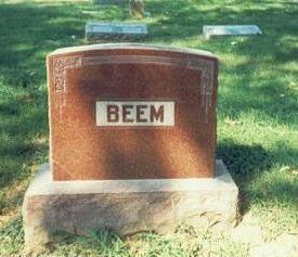 BEEM, MARKER - Pottawattamie County, Iowa | MARKER BEEM