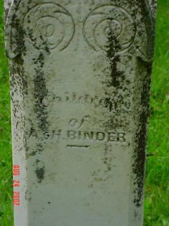 BINDER, CHILDREN - Pottawattamie County, Iowa | CHILDREN BINDER