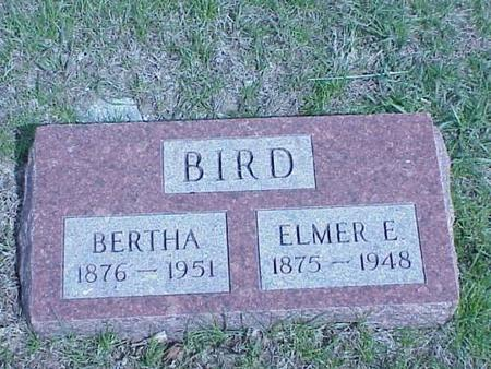 BIRD, BERTHA & ELMER E. - Pottawattamie County, Iowa | BERTHA & ELMER E. BIRD