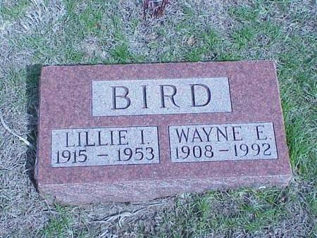 BIRD, LILLIE I. & WAYNE E. - Pottawattamie County, Iowa | LILLIE I. & WAYNE E. BIRD