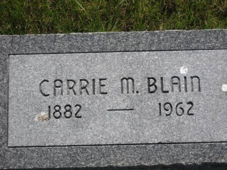 BLAIN, CARRIE M. - Pottawattamie County, Iowa | CARRIE M. BLAIN