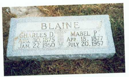 BLAINE, CHARLES D. - Pottawattamie County, Iowa | CHARLES D. BLAINE