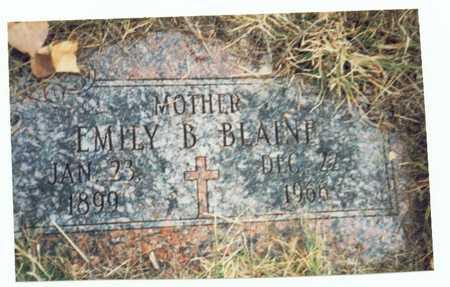 BLAINE, EMILY B. - Pottawattamie County, Iowa   EMILY B. BLAINE