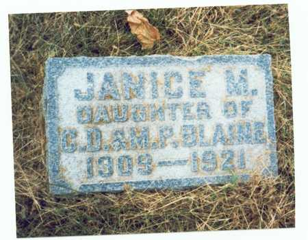 BLAINE, JANICE M. - Pottawattamie County, Iowa | JANICE M. BLAINE
