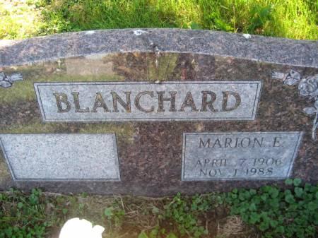 BLANCHARD, MARION E. - Pottawattamie County, Iowa | MARION E. BLANCHARD