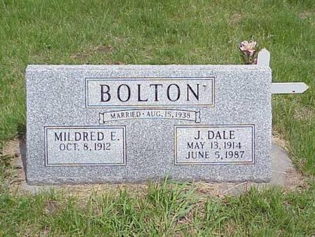 BOLTON, MILDRED E. & J. DALE - Pottawattamie County, Iowa | MILDRED E. & J. DALE BOLTON