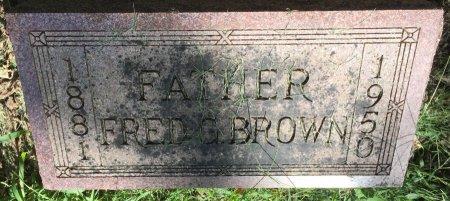 BROWN, FRED GARFIELD - Pottawattamie County, Iowa | FRED GARFIELD BROWN