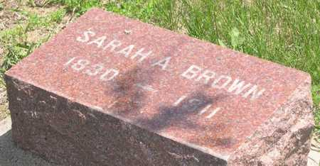 BROWN, SARAH A. - Pottawattamie County, Iowa | SARAH A. BROWN