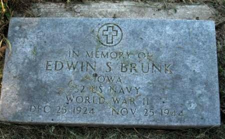 BRUNK, EDWIN (BUD) - Pottawattamie County, Iowa   EDWIN (BUD) BRUNK