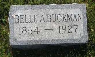 BUCKMAN, BELLE A. - Pottawattamie County, Iowa   BELLE A. BUCKMAN