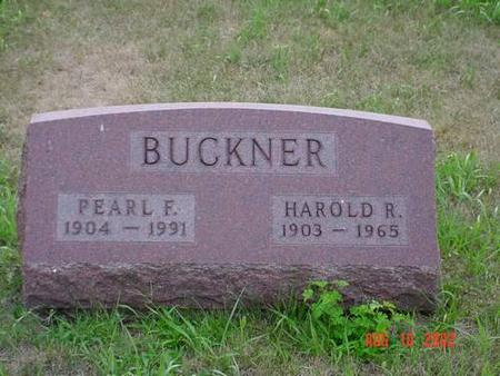 BUCKNER, PEARL F. & HAROLD R. - Pottawattamie County, Iowa | PEARL F. & HAROLD R. BUCKNER