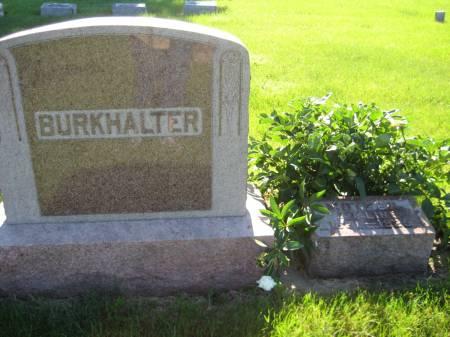 BURKHALTER, ADALINE - Pottawattamie County, Iowa   ADALINE BURKHALTER