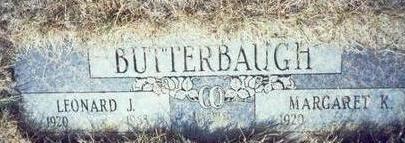 BUTTERBAUGH, LEONARD J. - Pottawattamie County, Iowa | LEONARD J. BUTTERBAUGH