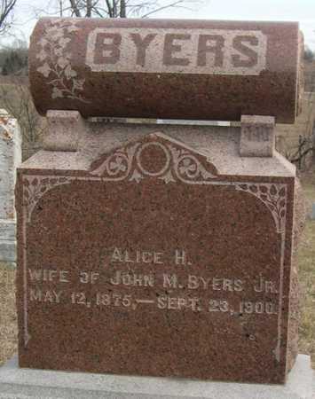BYERS, ALICE H. - Pottawattamie County, Iowa | ALICE H. BYERS