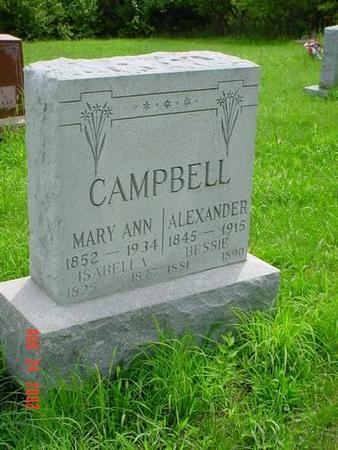 CAMPBELL, MARY ANN, ALEXANDER, ISABELLA & BESSIE - Pottawattamie County, Iowa | MARY ANN, ALEXANDER, ISABELLA & BESSIE CAMPBELL