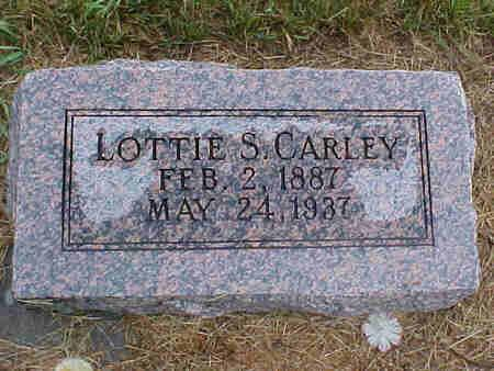 CARLEY, LOTTIE - Pottawattamie County, Iowa | LOTTIE CARLEY
