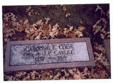 COOK CARLILE, CAROLINE E. - Pottawattamie County, Iowa | CAROLINE E. COOK CARLILE