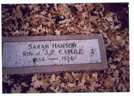 HANSON CARLILE, SARAH E. - Pottawattamie County, Iowa | SARAH E. HANSON CARLILE