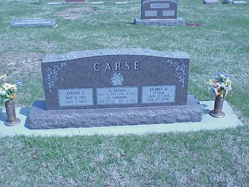 CARSE, DAVID, VIVIAN & VIRGINIA - Pottawattamie County, Iowa   DAVID, VIVIAN & VIRGINIA CARSE