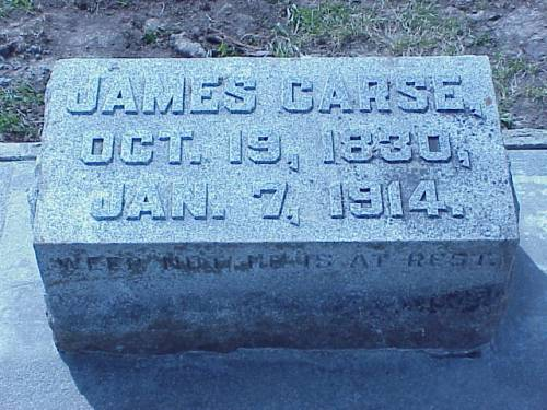 CARSE, JAMES - Pottawattamie County, Iowa | JAMES CARSE