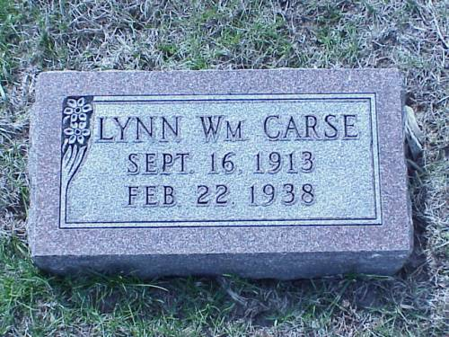 CARSE, LYNN WILLIAM - Pottawattamie County, Iowa | LYNN WILLIAM CARSE