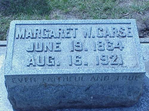 CARSE, MARGARET W. - Pottawattamie County, Iowa | MARGARET W. CARSE