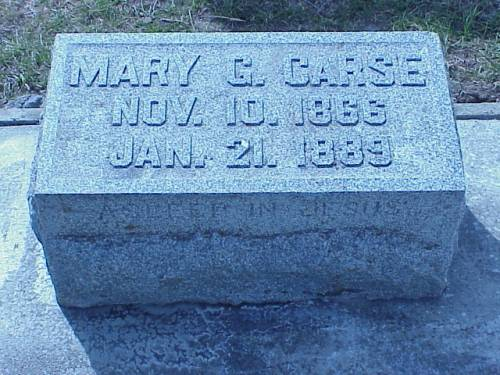 CARSE, MARY G. - Pottawattamie County, Iowa | MARY G. CARSE