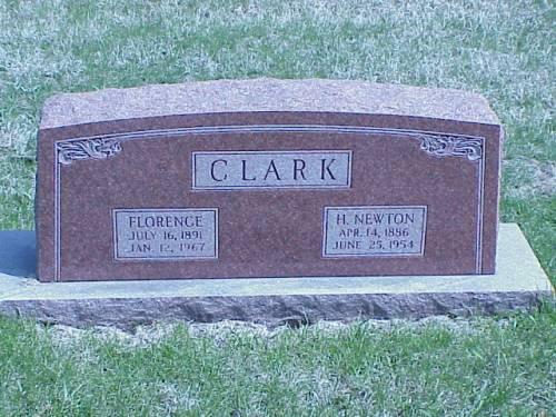 CLARK, FLORENCE & H. NEWTON - Pottawattamie County, Iowa | FLORENCE & H. NEWTON CLARK