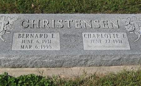 CHRISTENSEN, BERNARD E. - Pottawattamie County, Iowa   BERNARD E. CHRISTENSEN