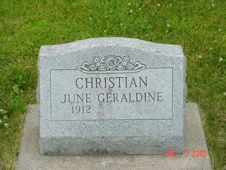 CHRISTIAN, JUNE GERALDINE - Pottawattamie County, Iowa | JUNE GERALDINE CHRISTIAN