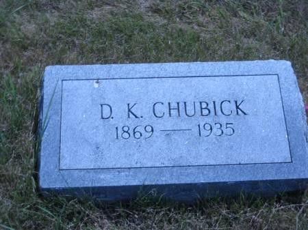 CHUBICK, D. K. - Pottawattamie County, Iowa   D. K. CHUBICK