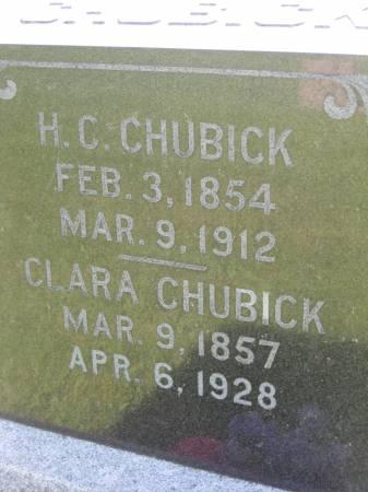 CHUBICK, H. C. - Pottawattamie County, Iowa | H. C. CHUBICK