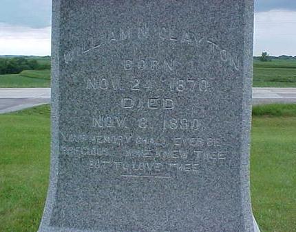 CLAYTON, WILLIAM N. - Pottawattamie County, Iowa   WILLIAM N. CLAYTON