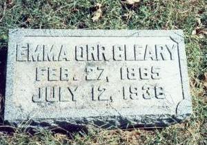 ORR CLEARY, EMMA - Pottawattamie County, Iowa   EMMA ORR CLEARY