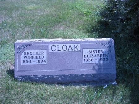CLOAK, WINFIELD - Pottawattamie County, Iowa | WINFIELD CLOAK