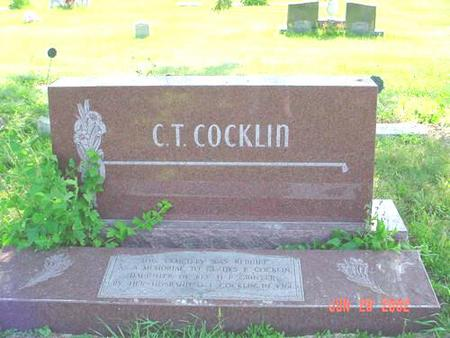 COCKLIN, C.T. - Pottawattamie County, Iowa | C.T. COCKLIN