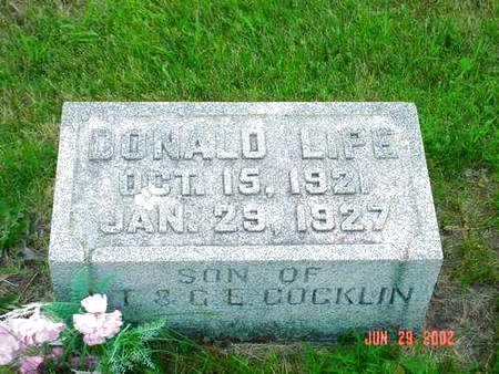 COCKLIN, DONALD LIPE - Pottawattamie County, Iowa | DONALD LIPE COCKLIN