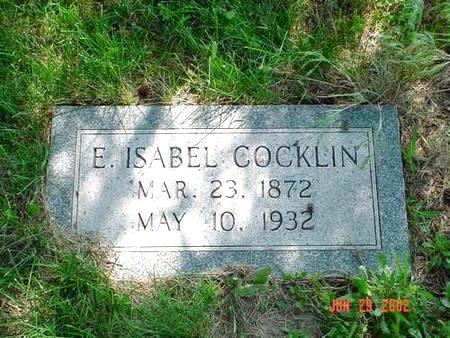 COCKLIN, E. ISABEL - Pottawattamie County, Iowa | E. ISABEL COCKLIN