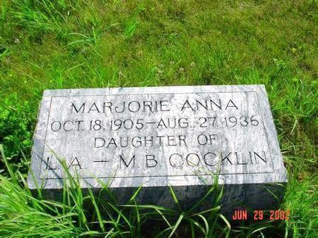COCKLIN, MARJORIE ANNA - Pottawattamie County, Iowa | MARJORIE ANNA COCKLIN