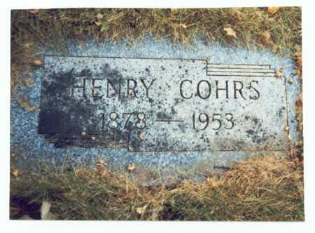 COHRS, HENRY - Pottawattamie County, Iowa | HENRY COHRS