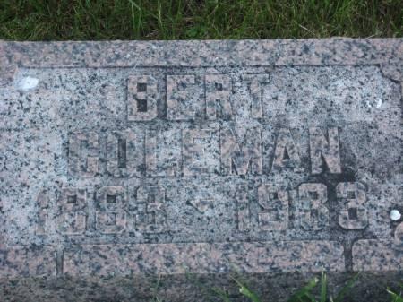 COLEMAN, BERT - Pottawattamie County, Iowa | BERT COLEMAN