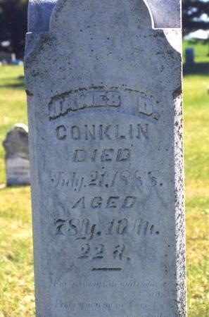 CONKLIN, JAMES DUNHAM - Pottawattamie County, Iowa | JAMES DUNHAM CONKLIN