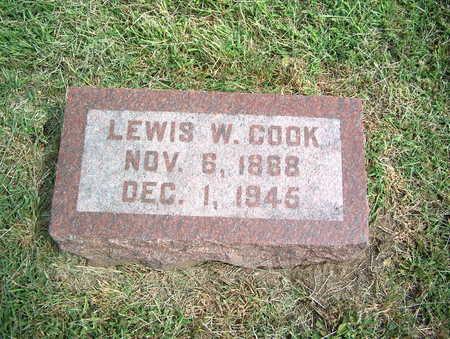 COOK, LEWIS W. - Pottawattamie County, Iowa   LEWIS W. COOK