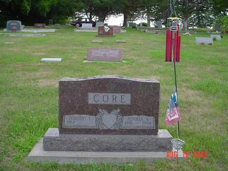 CORE, DOROTHY L. & HERMAN A. - Pottawattamie County, Iowa | DOROTHY L. & HERMAN A. CORE