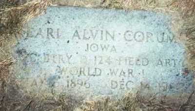 CORUM, EARL ALVIN - Pottawattamie County, Iowa | EARL ALVIN CORUM